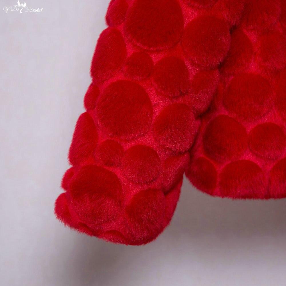 Bolero Rouge Mariage avec ta091 chaud circulaire motif rouge en fausse fourrure bolero pour