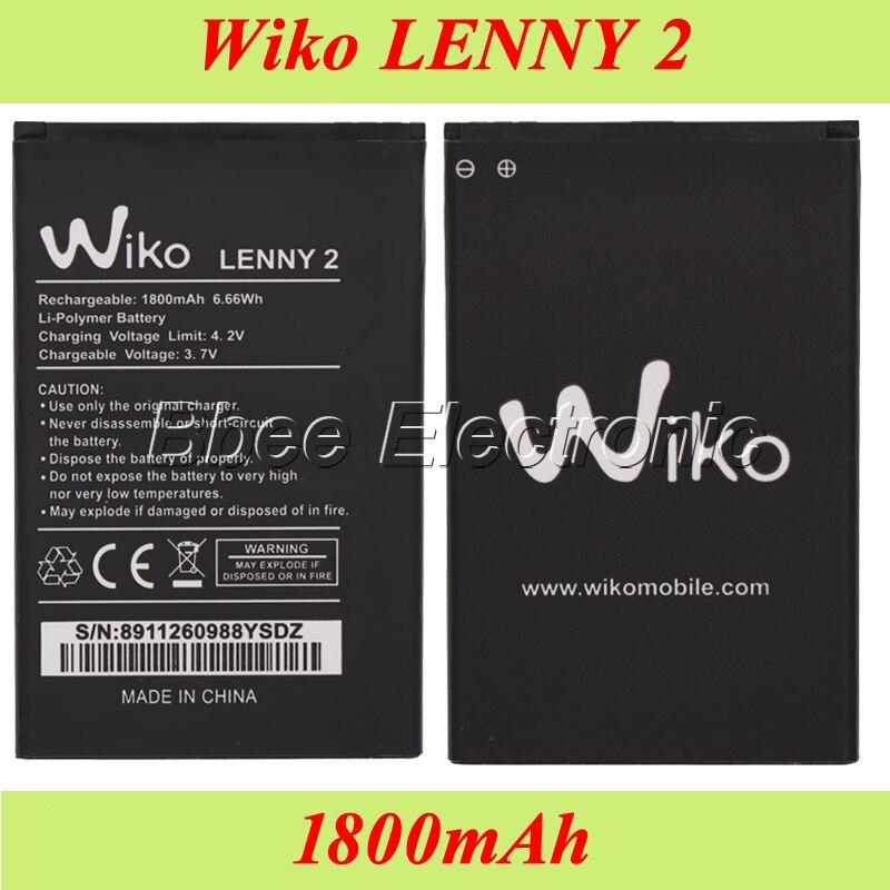 10PCS/LOT Wiko LENNY 2 Battery 1800mAh Batterie Bateria AKKU