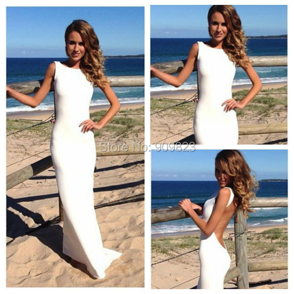 simpele witte jurk