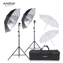 Andoer Speedlight Flash Shoe Mount Swivel Soft Umbrella Kit +Brackets+Light Stand +Soft Umbrella for Canon Nikon Hot Shoe Flash(China)