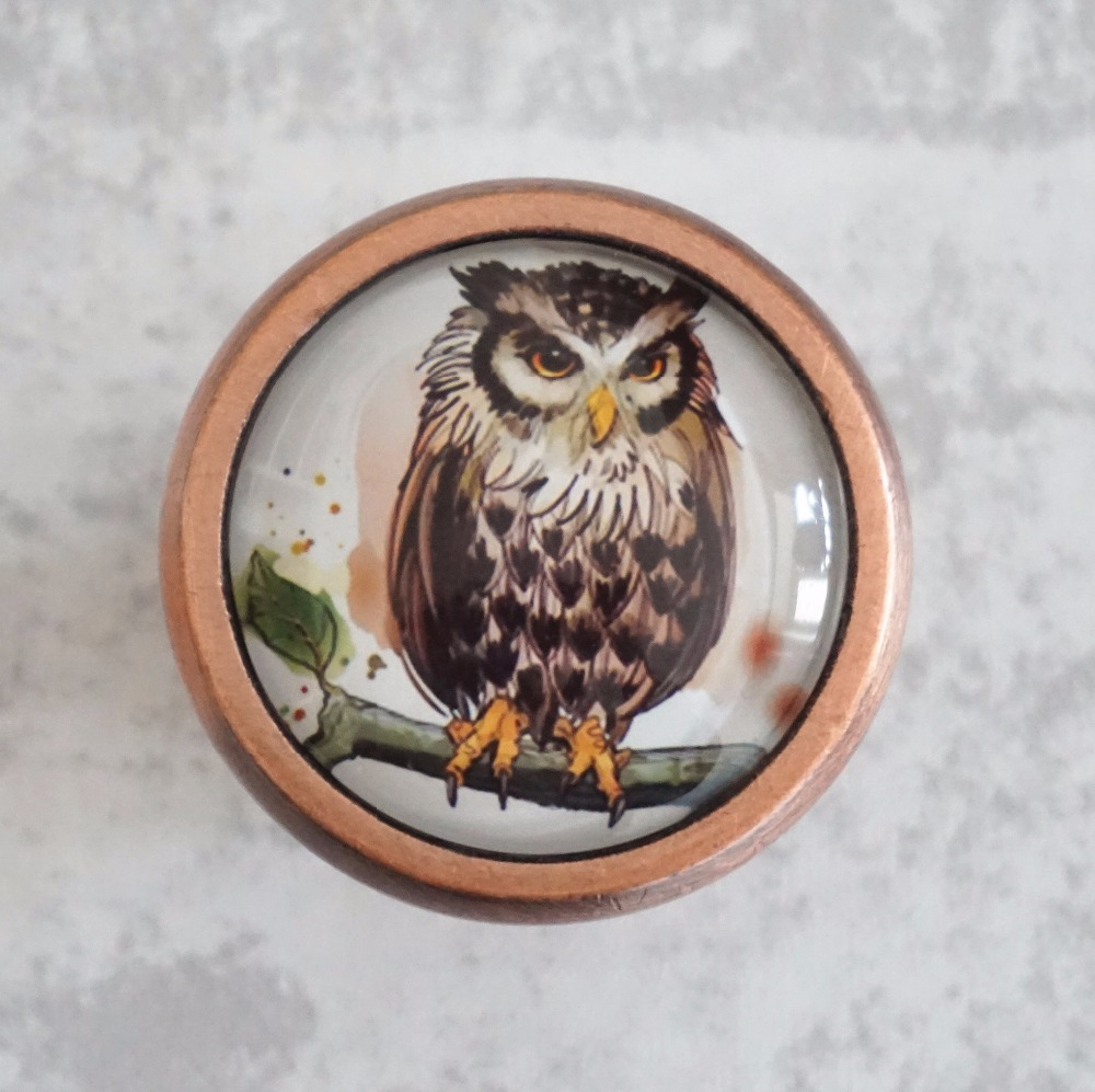 Vintage Owl Knobs Drawer Dresser Knob Handmade Cupboard Pulls Knob Chic Kitchen Cabinet Door Handle Furniture Hardware 128mm phoenix kitchen cabinet antique hanles furniture dresser vintage knob cabinet cupboard closet drawer handle pulls rongjing