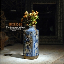 2016 the American village relief bottle antique style glazed pottery vase home decoration business gifts