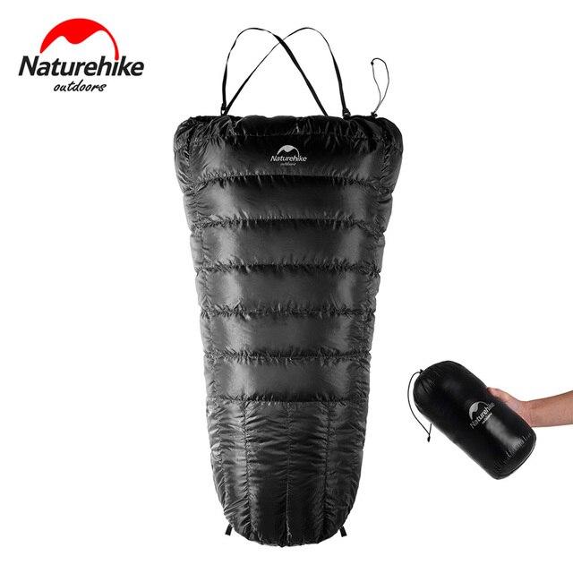 NatureHike Ultralight 350g Half chest Sleeping Bag Duck Down Lazy Bag Camping Sleeping Bags NH17S018-D