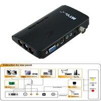 LNOP Externe HD LCD CRT VGA Externe TV Tuner MTV Box PC BOX Ontvanger Tuner HD 1080PTV Box AV Naar VGA Met Afstandsbediening