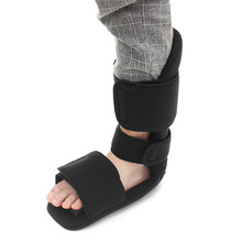 New Arrival Adjustable Foot Ankle Support Injured Brace Fracture Sprain Plantar Fasciitis Pain Relieve Night Splint Black S M L