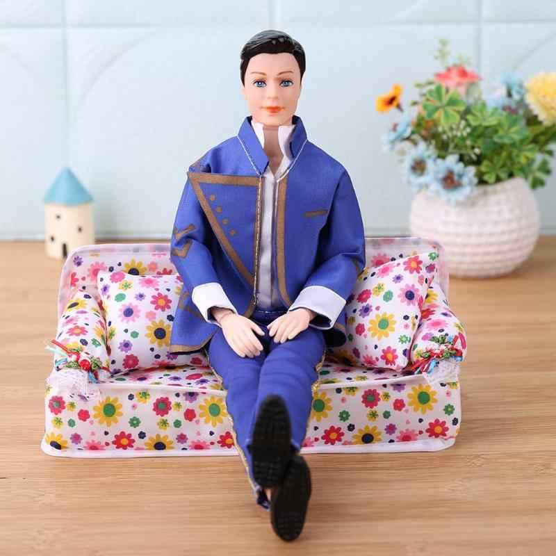27 ซม.ตุ๊กตา 11 ข้อต่อที่สามารถเคลื่อนย้ายได้แฟน Prince Ken Naked Body Head รองเท้า DIY เด็กของเล่นตุ๊กตาอุปกรณ์เสริมผ้า