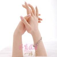 Реалистичные Женский мягкий силиконовый гибкий Манекен рук кольцо, браслет и перчатки Дисплей