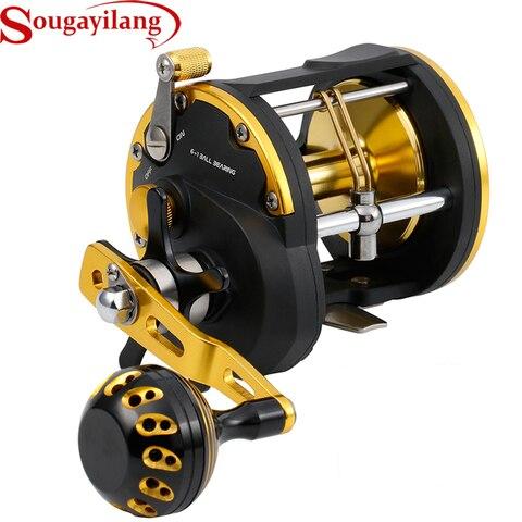sougayilang carretel de corrico redondo convencional jigging carretel tambor tipo linha pesca carreteis alta qualidade