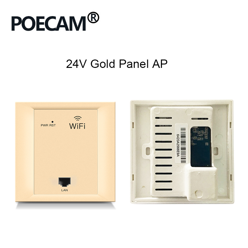Repeater 86 Pannel AP Type 2.4G 300Mbps Wireless Travel Router Wifi In Wall Access Point Poe 24V  Optional Color White Gold