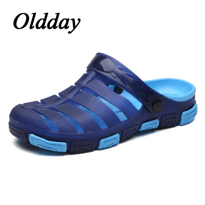 Men Sandals Slip on Garden Shoes Lightweight Beach Sandals for Men Casual Water Slippers Men Outdoor Fashion Shoes
