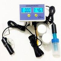 YM-2007 Monitorare la Qualità Dell'acqua gamma 0.0-99.9 PPT Tester di Salinità Digitale & PH Meter Salinità & PH Monitor per acquario