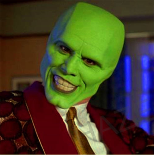 The Mask Movie Jim Carrey Cosplay Halloween Party Green Funcy Dress Adult Props image