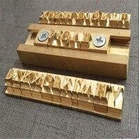 T slot moval Flexible Brass letters stamp leather craft tools mold hot foil stamp copper alphabet number die cut set custom DIY