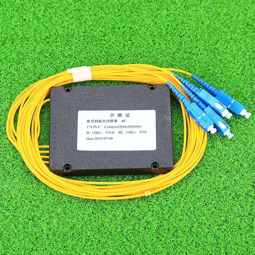 Image 4 - KELUSHI NEW 1x4 Telecom PLC Cassette SC Compact Optical Splitter Planar Waveguide Fiber Optical Branching Device-in Fiber Optic Equipments from Cellphones & Telecommunications