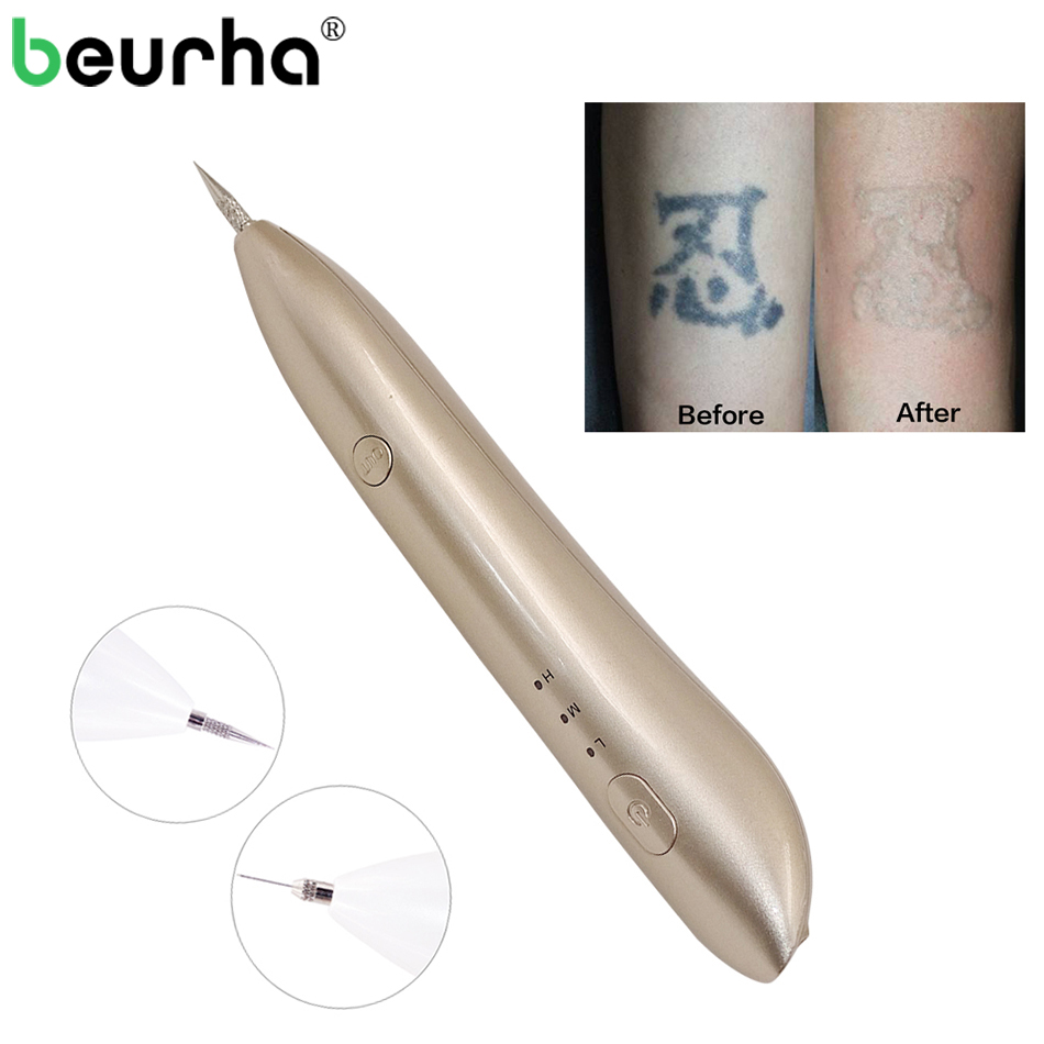 Mole Freckle Tattoo Removal Machine Facial Dark Spot Remover Plasma Pen Skin Wart Tag Tattoo Removal Tool Beauty Care Device 2 pcs laser freckle removal machine skin mole removal dark spot remover for face wart remaval pen salon home beauty care tool