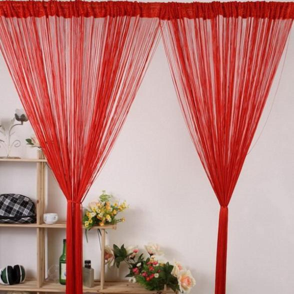 13 Colors Window Room Divider Line String Curtain Tassel Scarf Valance D64