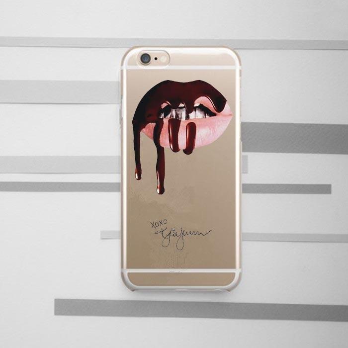 Kasus telepon Sexy Girl Kylie Jenner Bibir Merah Muda Ciuman Kasus - Aksesori dan suku cadang ponsel - Foto 5