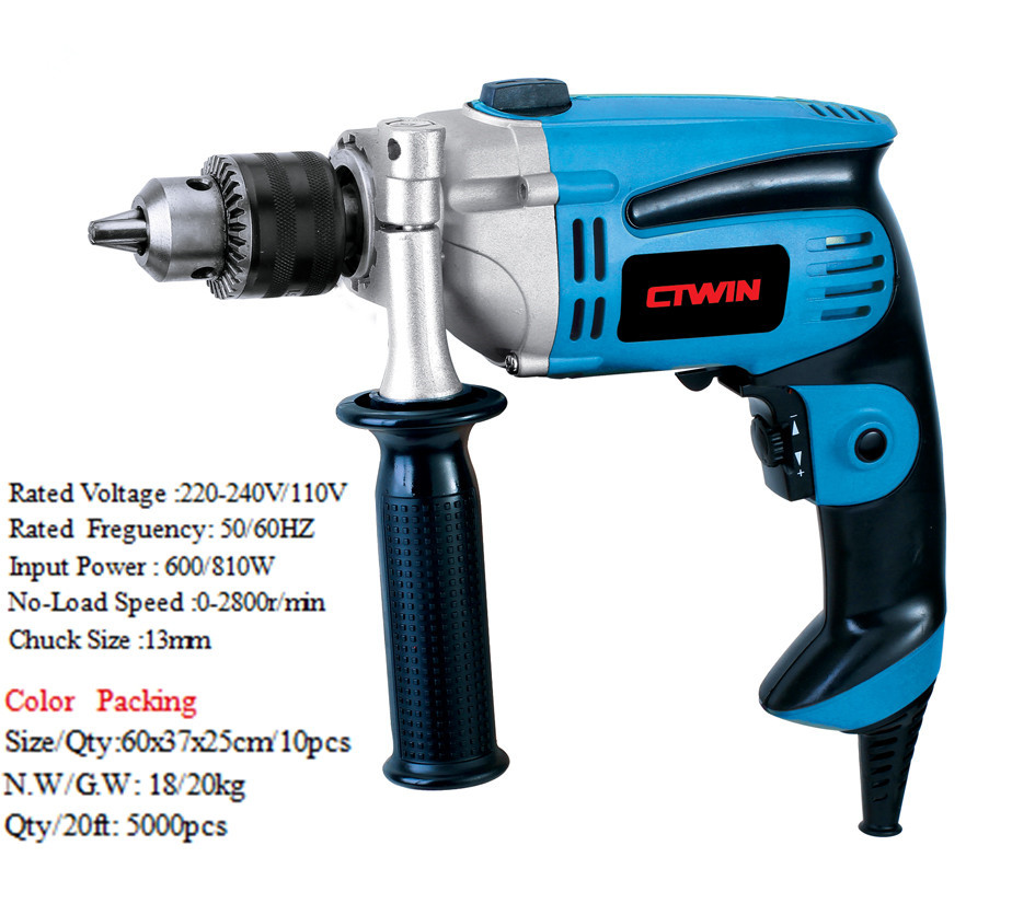 810W Impact Drill For Drilling Machine Electric Power Tools Household 0-2800r/min 13mm платье vero moda vero moda ve389ewujy59