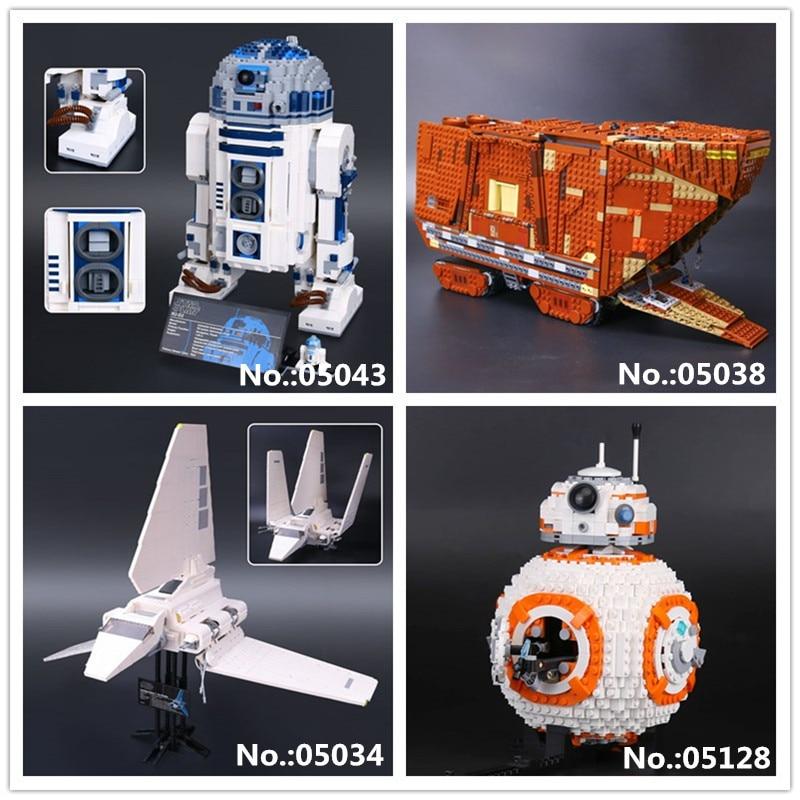 Лепин 05034 05038 Пробуждение силы sandcrawler 05043 R2 модель D2 05128 двойной B 8 робот строительный блок кирпичи игрушки