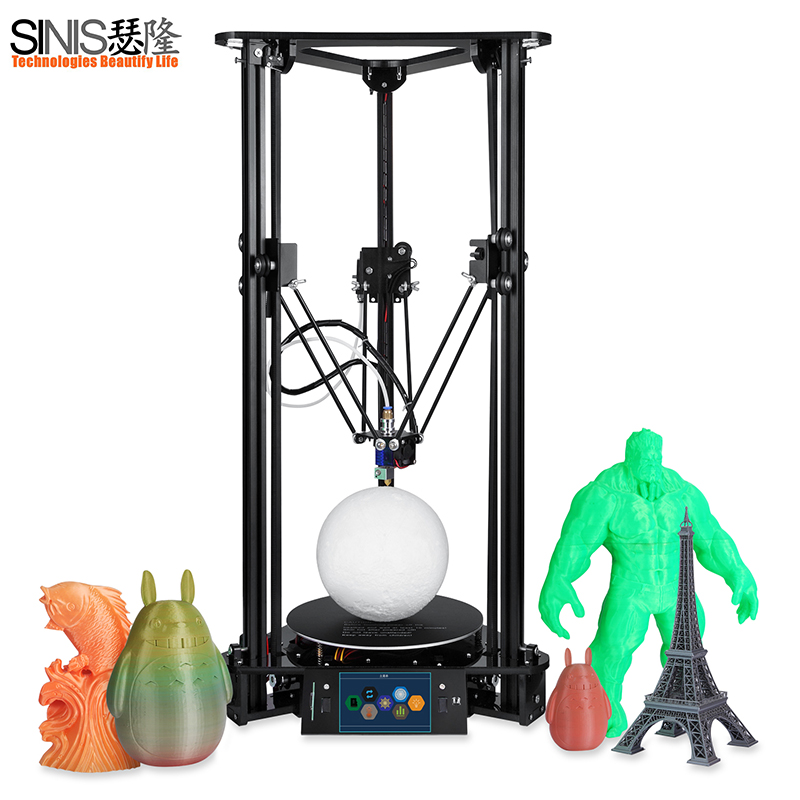 Haute Précision MINI DIY De Bureau 3D Imprimante Kit Bureau Utilisateur Guide 3D Impression Kossel Delta 3d Imprimante SD Carte et filament Pour Livraison