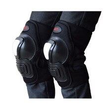 Черный moto защиты мотокросс оборудование мотоцикла защитная kneepad ветрозащитный теплые мотокросс колено