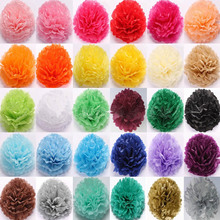 10Pcs 6-10 Inch Wedding Paper Flowers Ball Decor Pompom Tissue DIY Birthday Party Wall Decoration Multi Colour