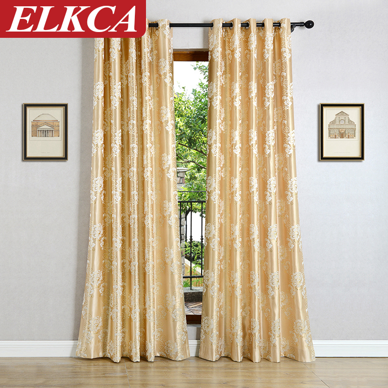 Floral jacquard curtains for bedroom luxury curtains for living room kitchen blinds fashion - Trend of modern design curtains for living room ...