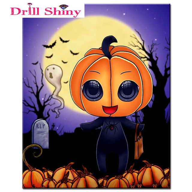 halloween buy drill w homfun diamond embroidery painting mosaic com square on stitch get round full cross shipping and pumpkin wholesale lantern aliexpress free diy
