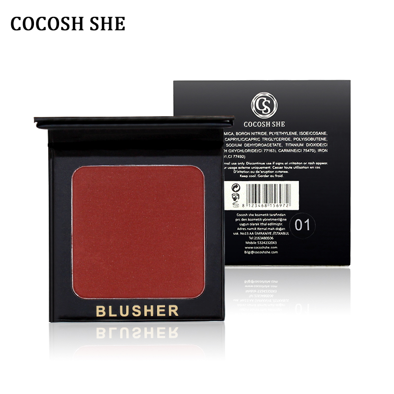 6 färger av COCOSH SHE Blush Makeup Kosmetisk Natural Blusher Powder Palette Charmig Kinnig Färg Make Up Face Blush