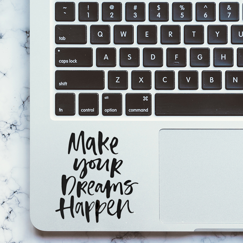 Self-motivaion Dream Quote Trackpad Decal Laptop Sticker for MacBook Pro Air Retina 11 12 13 15 inch Mac Touchpad Skin Sticker цена и фото
