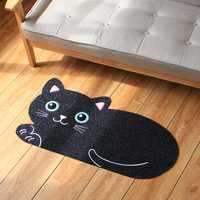 45*80cm Entrance living room Cute cat mat Entrance pad carpet Kitchen bedroom bedside rug Bathroom absorbent mats