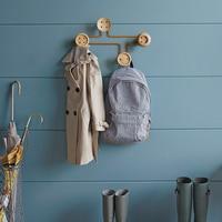 Nordic Wall Decoration wood Storage robe hook metal sundries Holders coat metal Racks Modern Design Hanger geometric