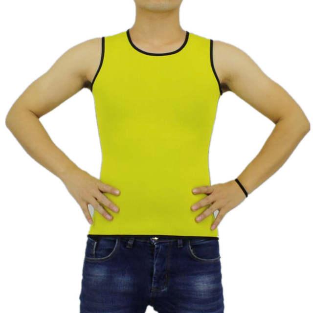 31cb40b3ab7a0 Online Shop Mens New Hot Body Shapers Compression Slimming Shirt Hot Waist  Trainer Shaper Corset Neoprene Sweat Weight Loss Fat Burning Vest