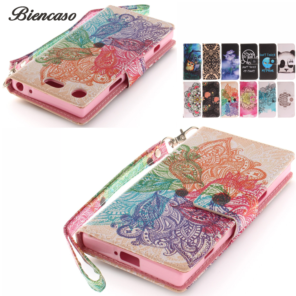 Case For Sony Xperia XZ1 Compact XA1 Plus Z2 Z3 Mini Relief PU Leather Cases For iphone X 7 8 6 6S Plus SE 5S Touch 6 5 Capa B42