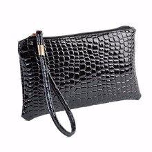 Женский кошелек, сумочка, женская сумка из искусственной кожи крокодила, клатч, Сумочка, Кошелек для монет, кошелек из крокодиловой кожи, клатч, сумочка, женская сумка