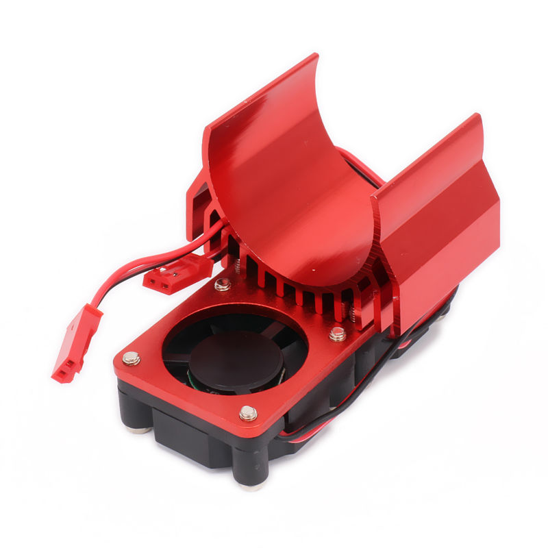 540/545/550 Size Motor Heat Sink With Fan Cooling Head Vent Top JST For 1/10 RC Model Car Heatsink HSP HPI Wltoys Himoto Tamiya