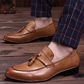 Men Flats Shoes Male Moccasins Slip On Soft Autumn Breathable Tassel Wedding Business Shoes For Mens Moccasins P82