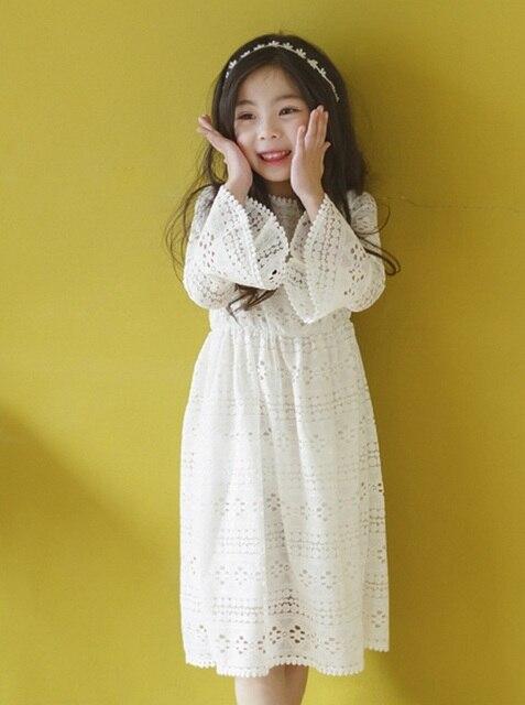 1fa8a38dc19eb Flare kollu prenses sonbahar dantel abiye doğum günü elbise düğün kız dans  butik dantel parti elbise