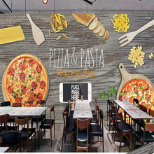 3D stereo pizza shop Western restaurant shop mural professional production wallpaper mural custom poster photo wall free shipping vintage japanese sushi ladies mural hot pot shop hand pulled noodle screen wallpaper mural