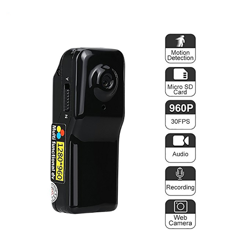 цена на MD80 Mini Wireless Camera Support Net-Camera Mini DV Record Camera Support 8G TF Card 720*480 Vedio Lasting Recording Camcorder