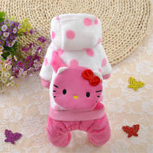 Cartoon Warm Dog Clothing For Soft Clothes for dog Puppy Pet Coat Jumpsuits Yorkie Chihuahua Hoodie