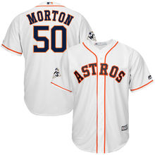 2f287e206 MLB Jerseys Houston Astros 2017 World Series Bound Charlie Morton Cool Base  Player Men's Baseball Jersey