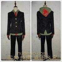 Super Danganronpa 2 Dangan Ronpa Makoto Naegi Cosplay Costume top+pant+coat Custom Made