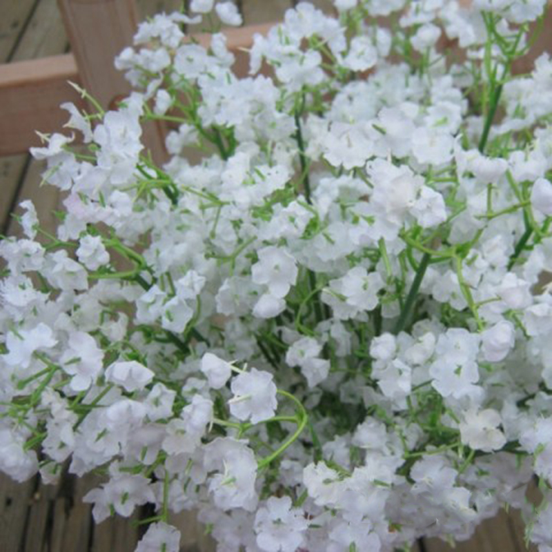 Rustic Artificial Flowers White Gypsophila 9