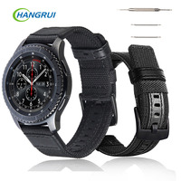 Breathable Replacement Watch Strap For Samsung Gear S3 Strap Band Adjustable Woven Nylon Soft Watch Bands