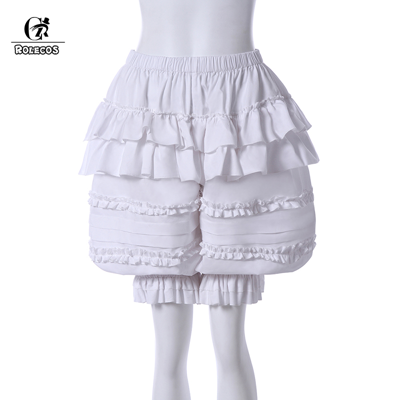 ROLECOS New Arrival Japanese Lolita Pumpkin Shorts Safety Pants White Pumpkin Bubble Bloomer Safety Under Pants With Bow Cute