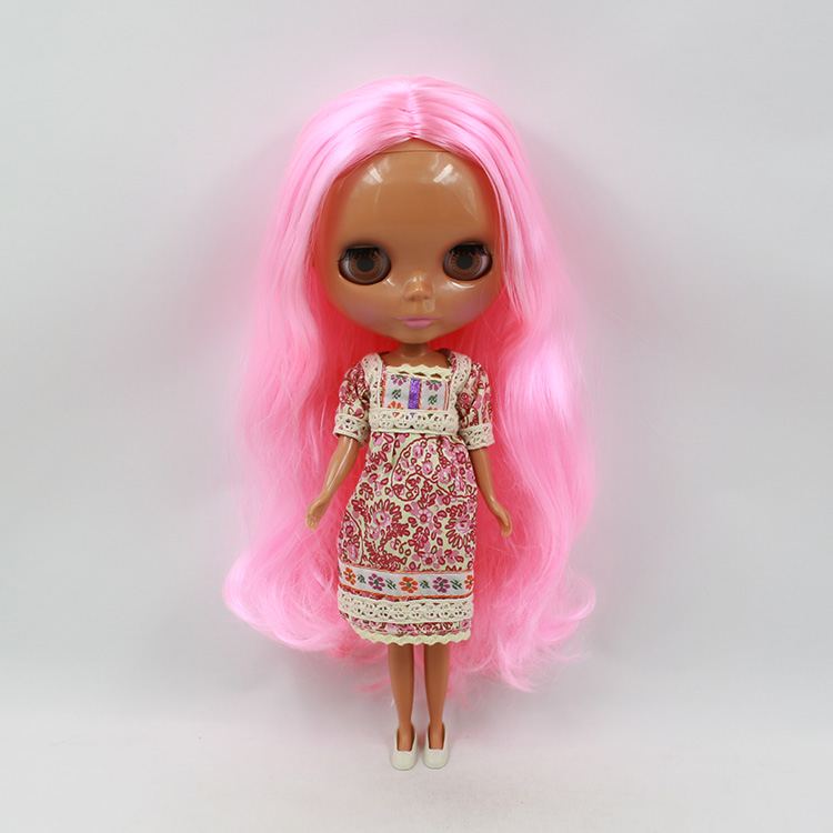 все цены на Blyth Nude doll pink long hair dolls for girls 12 fashion dolls blyth DIY
