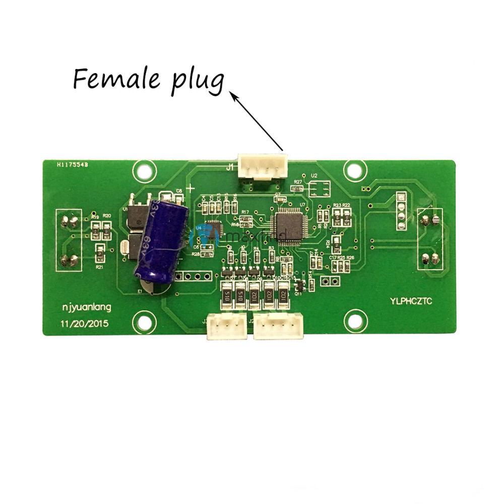 Female plug Two Wheels font b Hoverboard b font Smart Balance Scooter Spare Parts Gyroscope board