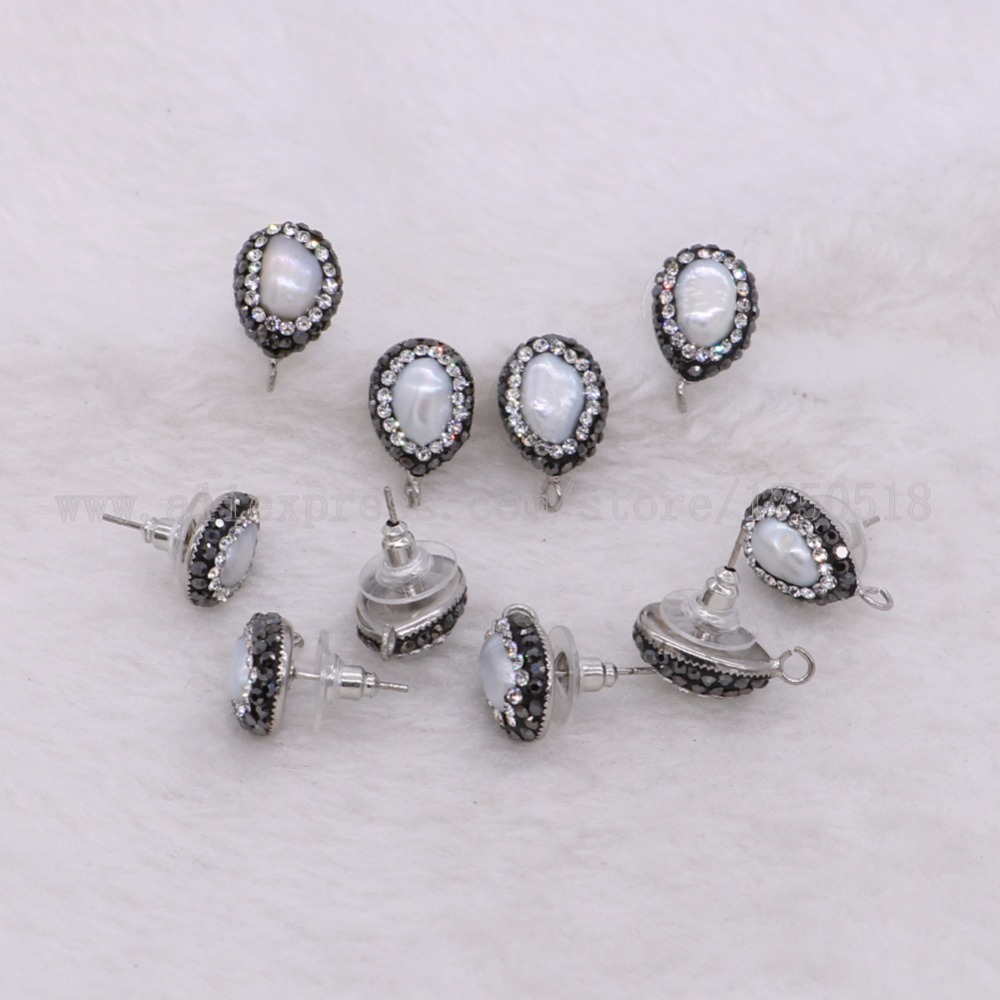 웃 유Natural perla pendientes joyería para joyería hecha a mano de ...