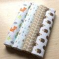 4 pçs/lote lençol 102*76cm lençóis de berço Do Bebê recém-nascido Flanela e Algodão infantil berço lençóis Da Cama Conjunto